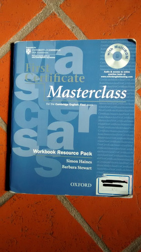 libro de ingles first certificate masterclass cambridge