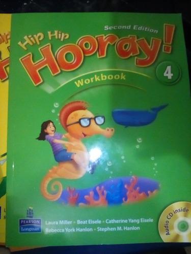 libro de ingles hip hip hooray 4 workbook  - student book cd