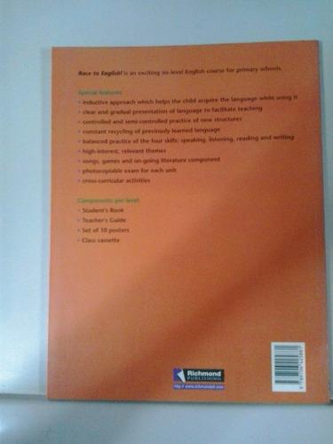 libro de ingles race to english 6to grado editorial richmont