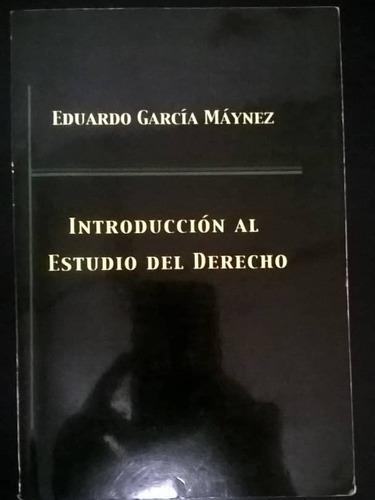 libro de introducción al derecho de eduardo garcía máynez