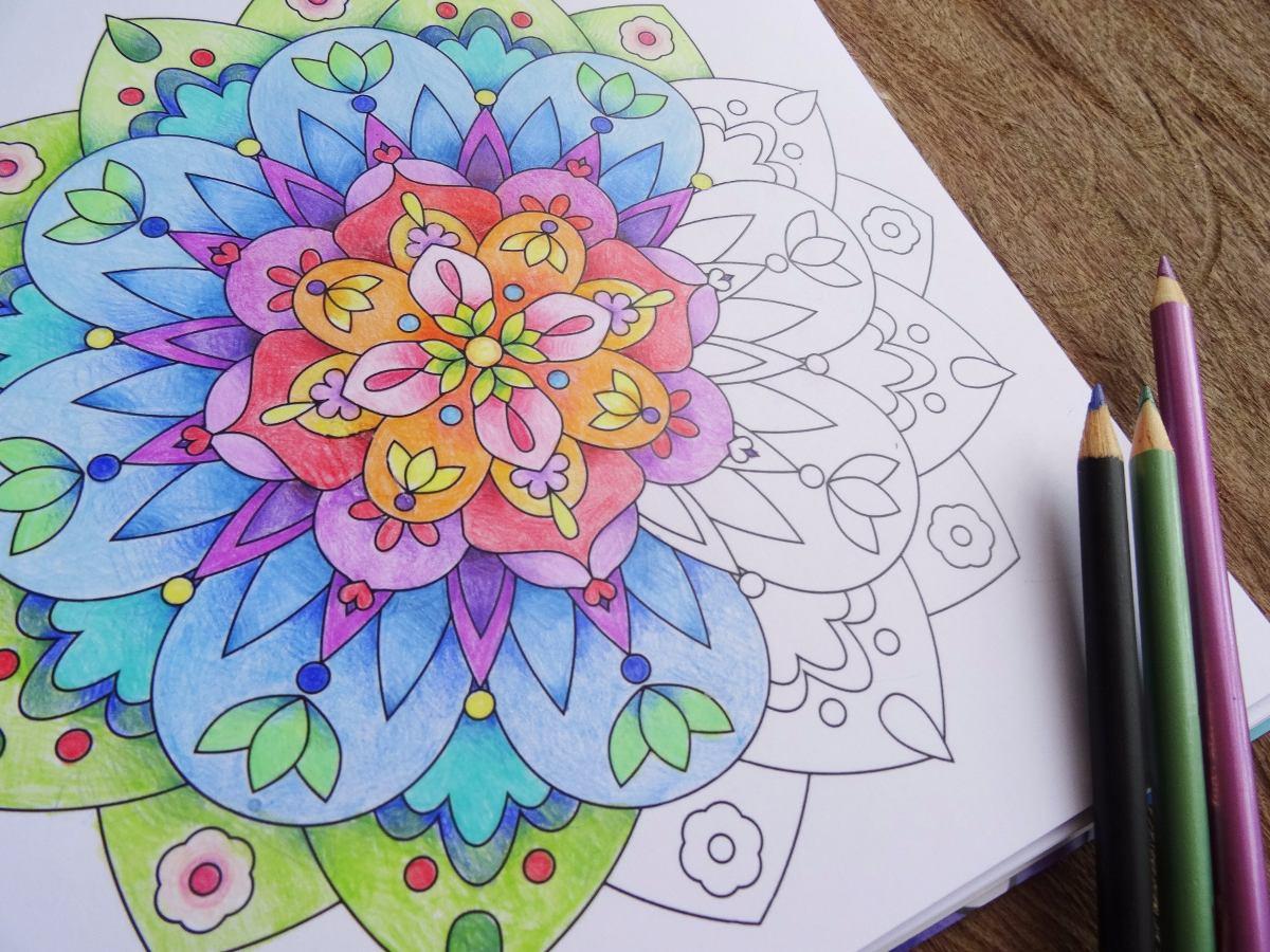 Libro De Mandalas Para Colorear - $ 35.000 en Mercado Libre