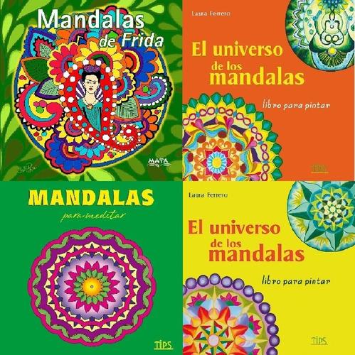 libro de mandalas para colorear.4 ejemplares