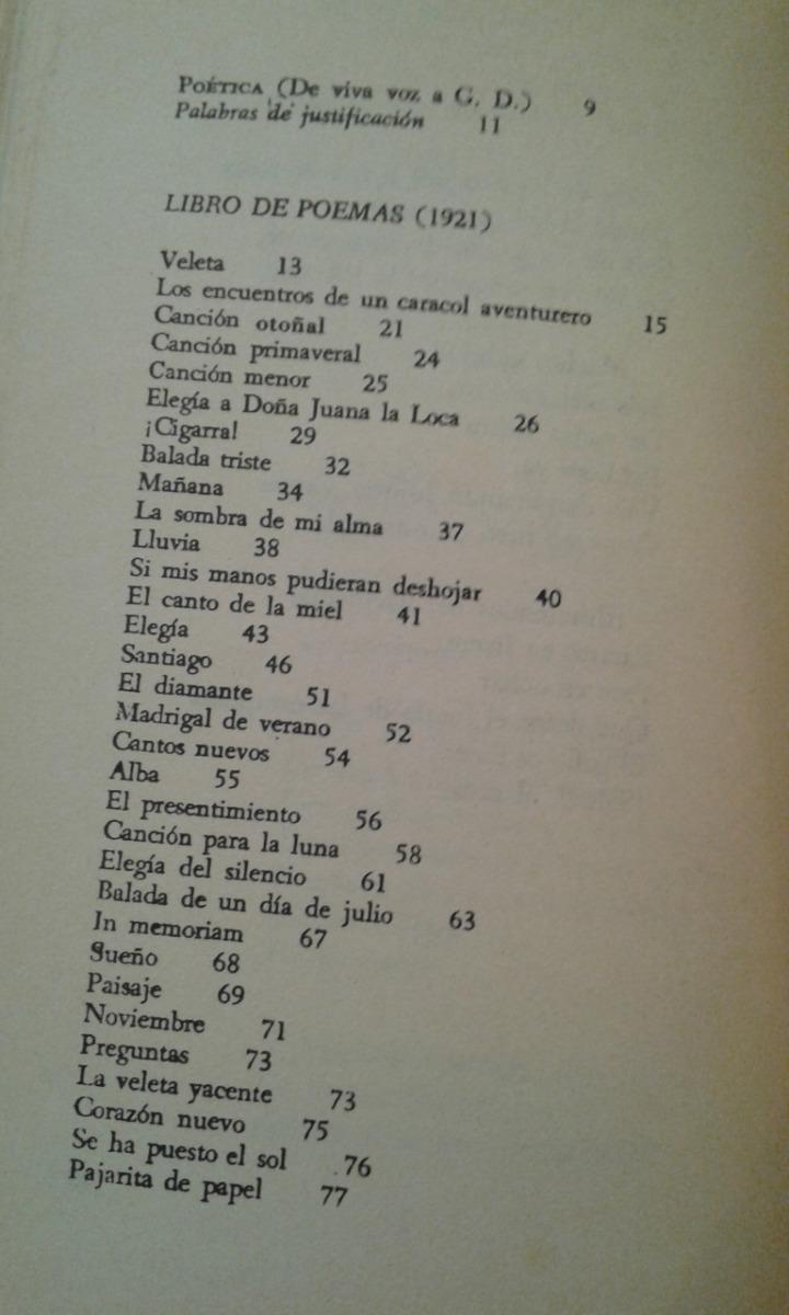 Libro De Poemas Federico Garcia Lorca Editorial Losada 9600