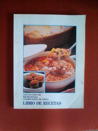libro de recetas para microondas.
