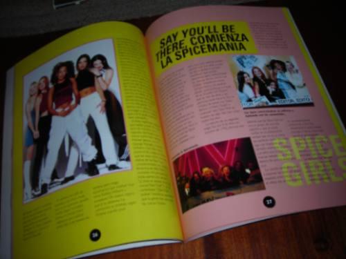 libro de spice girls -  ídolos del pop + poster de regalo!!