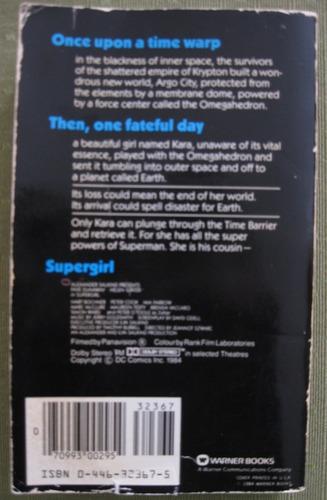 libro de supergirl (superchica) la pelicula