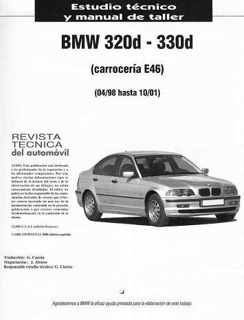 libro de taller bmw 320d, 330d, e46, 1998-2001, envio gratis