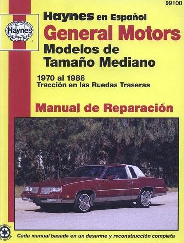 libro de taller chevrolet montecarlo, 1970-1988.