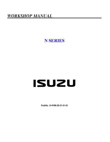 libro de taller chevrolet nkr-npr-nqr, 1995-2007.