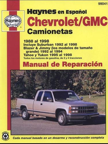 libro de taller chevrolet tahoe, 1988-1998, envio gratis.
