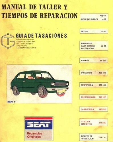 libro de taller fiat 147 1980-1984 español
