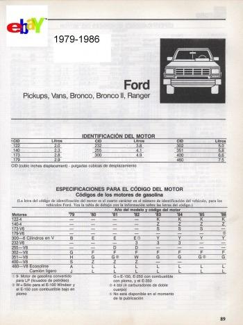 libro de taller ford f150, f250, f350, 1979-1986, en español