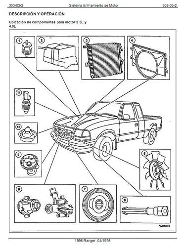 libro de taller ford ranger 1998-2003, en español.