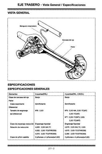 libro de taller hyundai galloper, 1998-2004, envio gratis