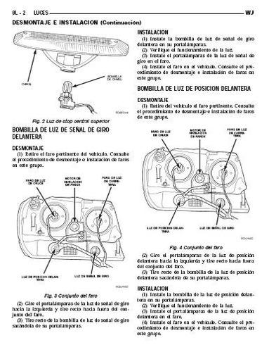 libro de taller jeep cherokee wj, 1999-2004, envio gratis