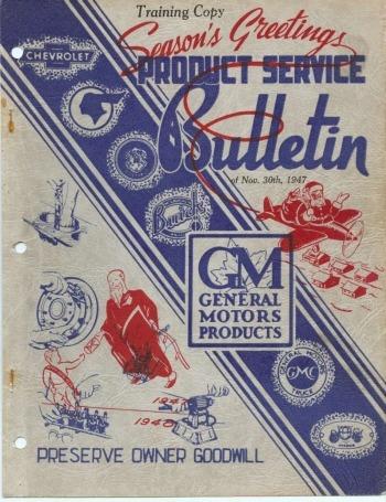 libro de taller pontiac modelos clásicos, 1947-1948.