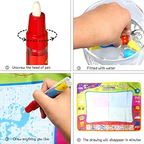 Libro De Tela Magic Water Drawing Coloring Pintura Doodle ...