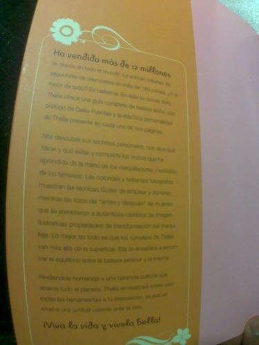 libro de thalia (cantante, sodi, mottola, belleza, felicidad