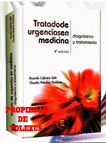 libro  de urgencias en medicina ricardo cabrera sole-origina