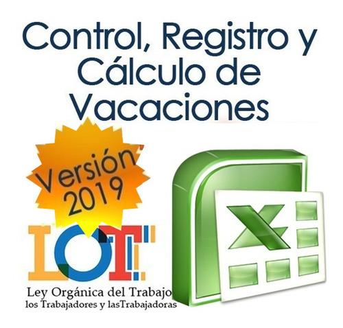 libro de vacaciones registro cálculos recibos lottt digital