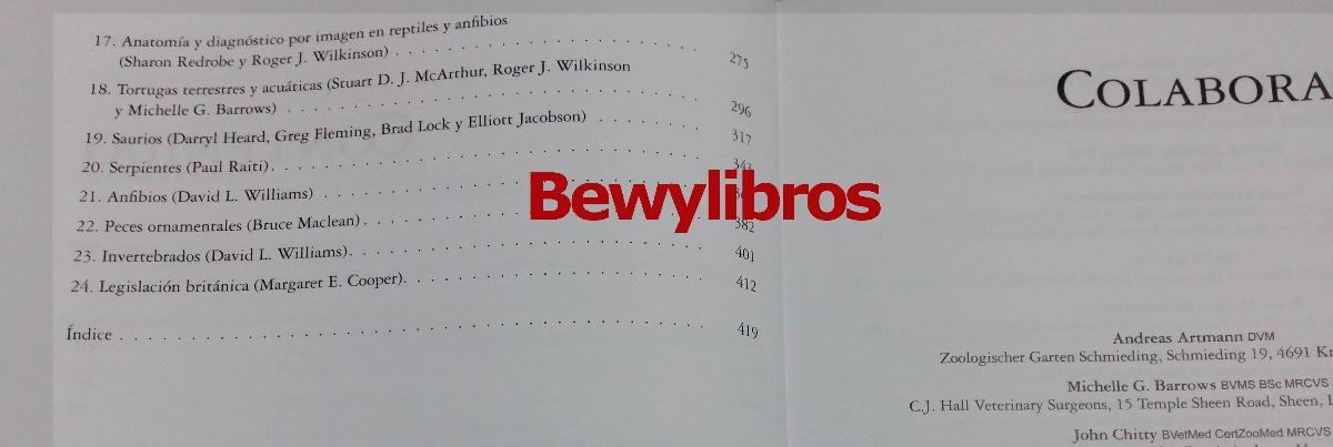 Libro De Veterinaria Manual De Animales Exóticos Lexus - $ 1.876,00 ...