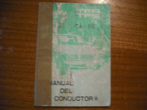libro del conductor isuzu  tfr tfs (c-28