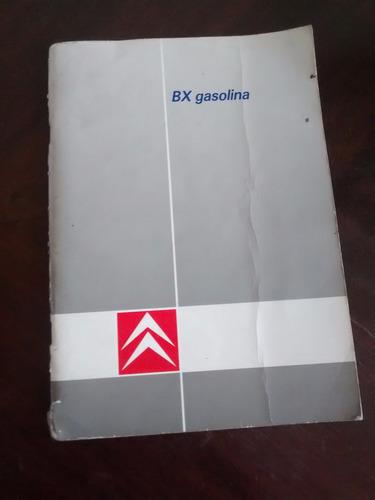libro del propietario citroen - bx 14-16  gasolina (c-2