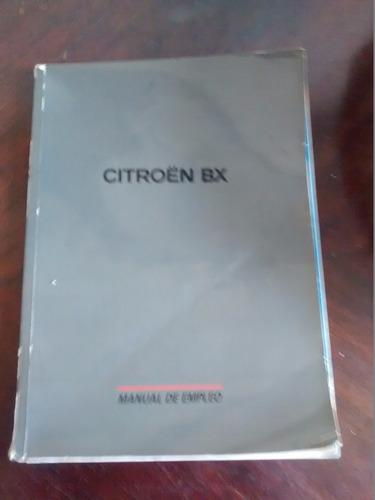 libro del propietario citroen - bx 14-16tt monopunto(c-3