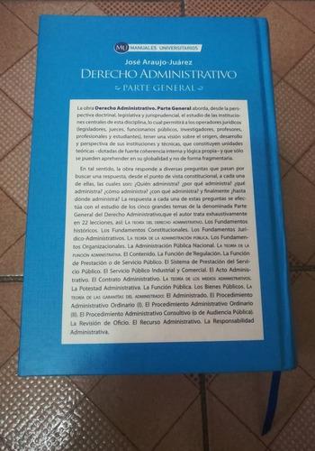 libro derecho administrativo: parte general, 1ra edición