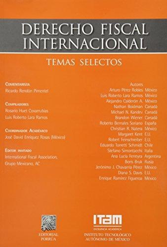 libro derecho fiscal internacional temas selectos - nuevo