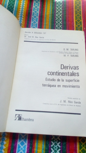 libro derivas continentales. d. tarling- m. tarling envios