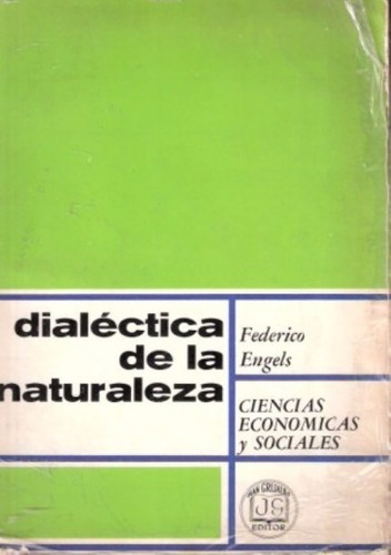 libro, dialéctica de la naturaleza de federico engels.