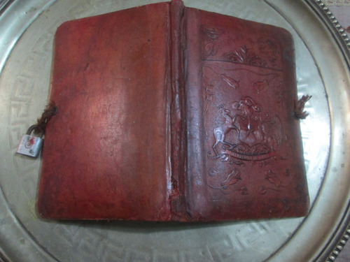 libro diario de vida libro repujado e cuero antiguo colonial