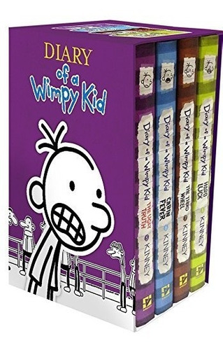 libro diary of a wimpy kid box of books - nuevo