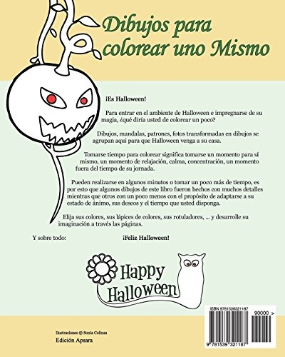 Libro : Dibujos Para Colorear Uno Mismo - Halloween - (1187) - $ 739 ...