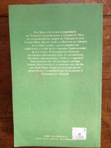 libro diccionario de filosofía abreviado de ferrater mora