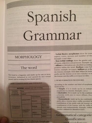libro diccionario  inglés español