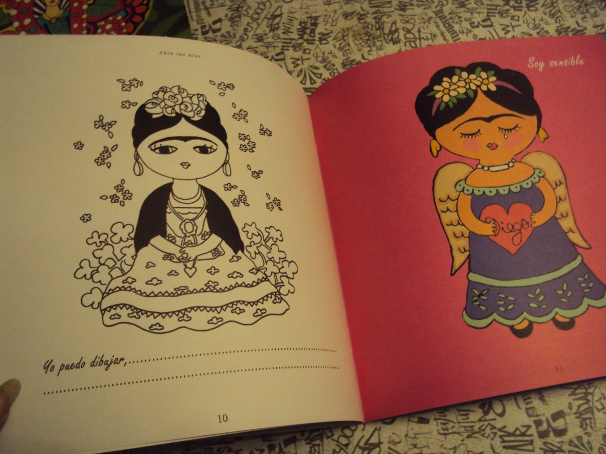 Libro Didactico De Frida Kahlo Para Pintar Con Frases Y Mas