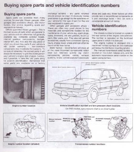 libro digital de taller  nissan sunny 1986-1991