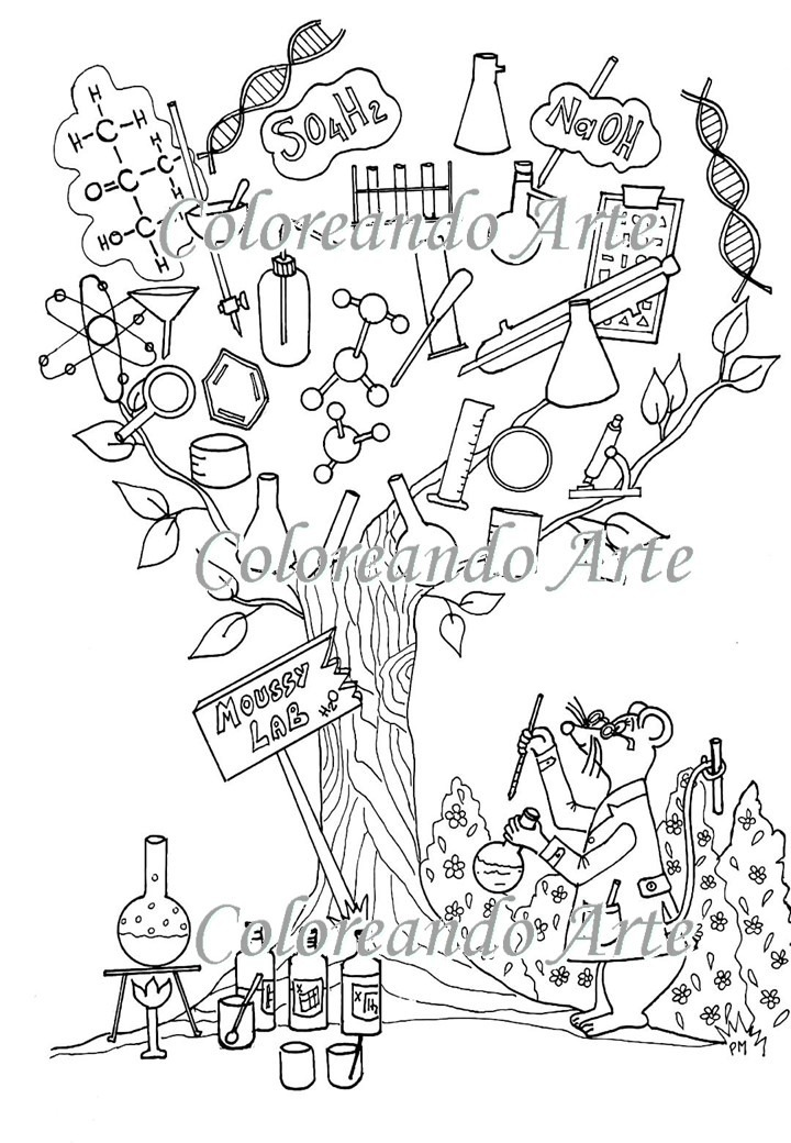 Excepcional Libro De Colorear De Química Imágenes - Páginas Para ...