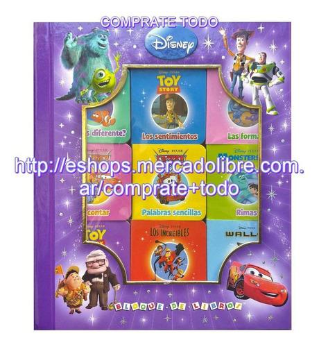 libro disney  bloque de libros pixar
