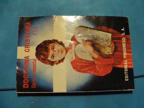 libro doctrina cristiana curso elemental  , 136 paginas , añ