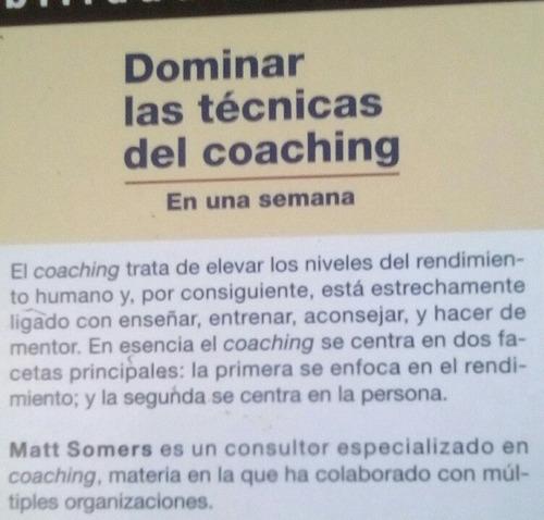 libro dominar tecnicas coaching en 1 semana matt somers