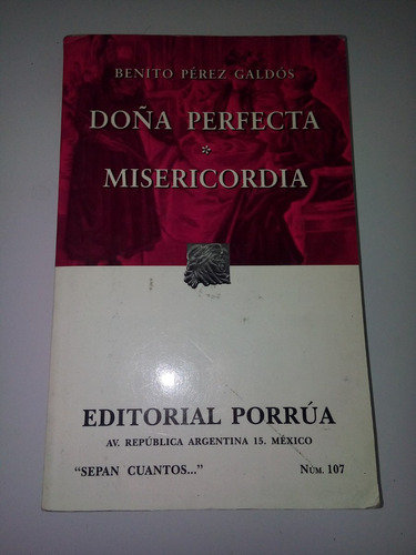 libro doña perfecta - benito pérez galdós