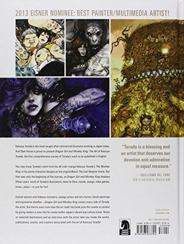 libro dragon girl and monkey king: the art of katsuya terada