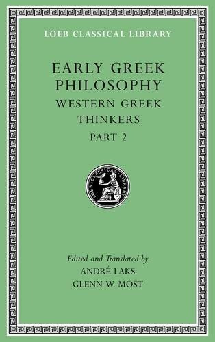 libro early greek philosophy: western greek thinkers: 5
