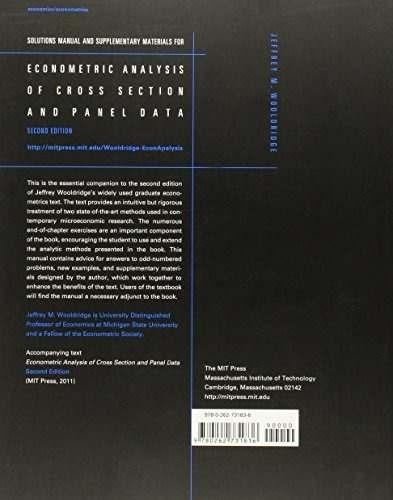 libro econometric analysis of cross section and panel data