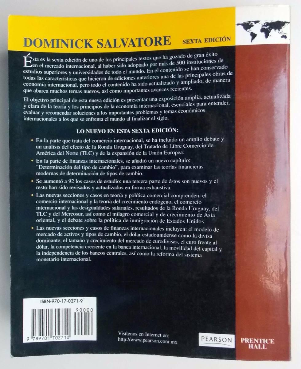 Libro econom a internacional 6 ed dominick salvatore 1999 cargando zoom