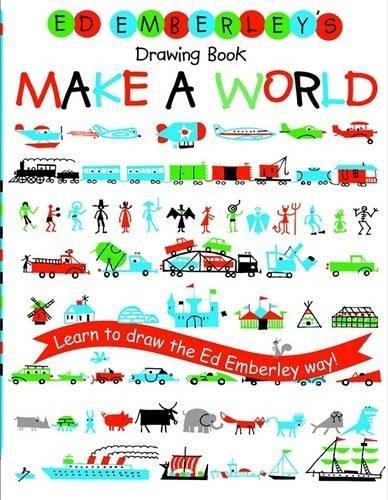 libro ed emberley's drawing book: make a world - nuevo