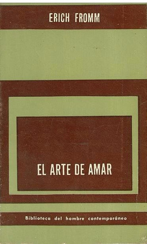 libro, el arte de amar de erich fromm.